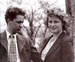 com Caitlin Thomas, sua esposa